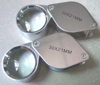 Wholesale Folding Eye Loupe x mm Silver Jewelers Gemstone Magnifying Glass high Quality