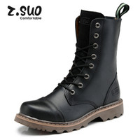 ankle cowgirl boots - Z suo Waterproof Real Leather Boots Winter Men Women Motorcycle Ankle Cowgirl Boots Botas Warm Furry Boots with Fur Zapatos