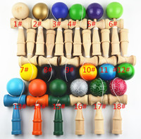 Wholesale hot sell colors Japan Traditional Game Kendama Ball CM Paint tribute professional