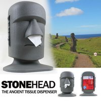 box facial tissue - Easter Island Big Moai Tissue Dispenser Stone Head Facial Tissue Paper Box Holder