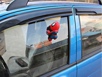 Wholesale New red black spiderman Toy Window Climbing Spider Man Doll Car Sticker Decoration Spiderman car interior decoration with suction cup