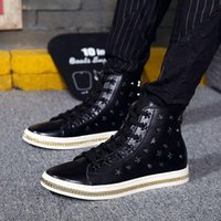 Cheap 2016 Spring Autumn Men Shoes British Style Fashion Chains High Help Genuine Leather Martin Boots Male Leather Shoes Flats