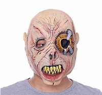 Aerial aerial man - Fashion Horror Grimace Scar men Mask for Adult Crazy Face Terror Eye Sharp Teeth Masks Halloween Party Gifts MZ139