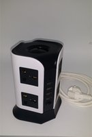 Wholesale 2F Sockets Vertical for EU AU UK US USB charging switch socket to mobile phones and other electronic products