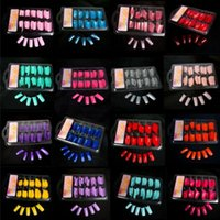 artificial nail gel - Fashion French Style Artificial Nail Art False Fake Tips Half Acrylic Gel Kit