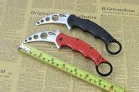 Cheap 2015 best FOX karambit knife folding microtech 440c d2 outdoor survival knife Folding knife B126M