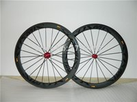 Wholesale New design carbon fiber bike wheels C road bicycle carbon wheels with Tubular Clincher for sale carbon clincher wheelset