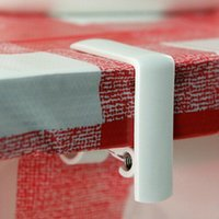 Wholesale Table Cloth Cover Holder Spring Loaded Plastic Tablecloth Clamp Clips