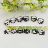 resin lucite - Fashion Cool Resin Lucite Skull Cartoon Pattern Kid Children Ring Jewelry