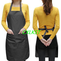 Wholesale Black Plain Ladyship Apron with Front Pocket for Chefs Butchers Kitchen Cooking