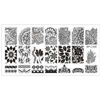 arabesque pattern - Born Pretty Nail Art Image Plate Stamp Template Various Arabesque Pattern Nail Art Stamp Stamping Template BP L008