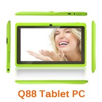 Wholesale 7 Inch Cheap Tablet PC Q88 Android Kitkat mAh WiFi A33 Quad Core GHz GB quot HD x600 Dual Camera