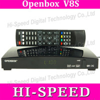 Wholesale 10pcs Newest Openbox V8S Digital Satellite Receiver S V8 S V8 Support WEBTV Biss Key x USB Slot USB Wifi G Youtube Youporn CCCAMD NEWCAMD