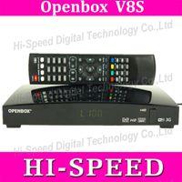 venda por atacado digital receiver-Receptor de Satélite 10pcs Openbox V8S Digital S V8 S-V8 Suporte WEBTV Biss Key 2x USB Slot USB Wifi 3G Youtube Youporn CCCAMD NEWCAMD