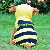 bees yellow jackets - Pieces High Quality Yellow Bee Cosplay New Designer Dog Puppy Coat Warm Pet Jacket Hoodies Clothes