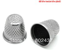 Wholesale Silver Tone Sewing Thimbles x18mm quot x3 quot B18634