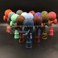 Wholesale TWB kendama cm Professional game top quality full crack paint beech Boutique costomize diy logo