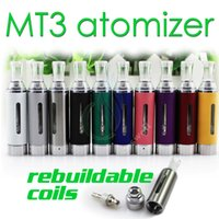 clearomizer - MT3 Atomizer ml eVod BCC MT3 Electronic Cigarette rebuildable bottom coil Clearomizer tank for EGO EVOD battery E Cigarette DHL free
