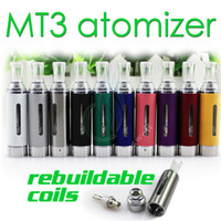 Replaceable 2.4ml Metal MT3 Clearomizer 2.4ml eVod BCC MT3 Electronic Cigarette rebuildable Atomizer bottom coil tank Cartomizer for EGO EVOD battery E Cigarette
