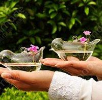 Wholesale DHL Free New Fashion bird shape transparent glass hanging vase fashion hydroponic flower modern home decoration