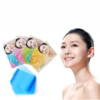 blotting paper - 1 Set Pack Paper Pulp Random Facial Oil Control Absorption Film Tissue Makeup Blotting Paper