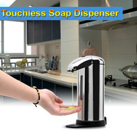 automatic foam soap - US Stock ML Sensor Soap Dispenser Stainless Steel Automatic Hands Free Wash Machine Portable Motion Activated w Stand