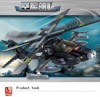 apache ah - Sluban military Apache AH new products fighter model Building Blocks Set boy children enlightenment educational toys