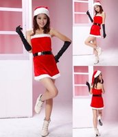 Wholesale DHL sets Christmas Party Princess costumes performing clothes Christmas role playing appeal sexy uniforms