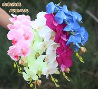 Wholesale 20pcs Popular white Phalaenopsis Butterfly Orchid flower cm quot Length Colors Artificial Phalaenopsis for Wedding