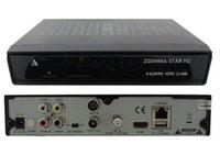 Wholesale 2015 New Arrival Zgemma Star H2 with DVB S2 T2 C Twin Tuner Samsung A tuner Zgemma star H2 Full HD Satelilte Receiver