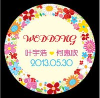 Wholesale Professional Custom stickers Label for Wedding wedding gift box stickers