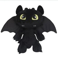 Wholesale New Hot Sale How to Train Your Dragon Toothless Night Fury Dragon Toy About cm Height Lifelike Toothless Baby Toys Christmas Gift