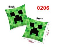 Wholesale 2014 New Minecraft Creeper Pillow Green Soft Cushion X Inches Bonus Minecraft Colors Soft Toy Stuffed Doll