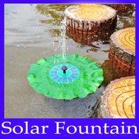 Wholesale solar garden lotus leaf fountain pump MOQ