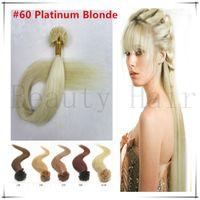 u tip hair extensions - Peruvian Nail U Tip Keratin Hair Extension Unprocessed Virgin Straight Prebonded Fusion Hair s g g