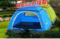 Wholesale 2015 Fashion Family Leisure Tent New Type Quick Automatic Opening Camping Aluminum Framed Double Layer Casual Outdoor Tent