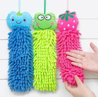 Wholesale Hot Creative Fashion Household Items Cartoon Chenille Hand Towels Multicolor Coral Shape Plush Car Clean Towels Cleaner Washcloth jk0048