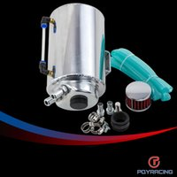 Wholesale PQY RACING L LITRE ALUMINIUM POLISHED ROUND OIL CATCH CAN TANK WITH BREATHER FILTER PQY TK01