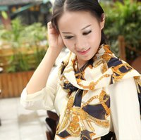 Wholesale Gold pattern velvet chiffon scarf autumn and winter ladies long scarf shawl