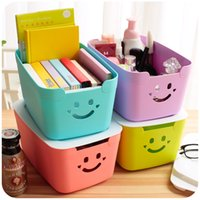baby book storage - Colorful plastic cover storage box small baby put toy box installed book storage box dormitory artifact