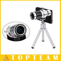 Wholesale HOT Universial Mobile Phone x Zoom Optical Lens Telescope Camera Telephoto Lens With Phone Case For iphone Plus S S