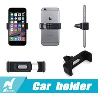 Wholesale For Iphone plus Universal Elastic Mobile Phone Holders Car Air Vent Holder Mount Bracketsupport Samsung HTC GPS tablet with retail package