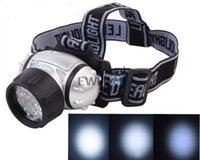 Wholesale 19 LED Ultra Bright Headlamp Headlight Torch Flashlight Waterproof Outdoor Good Quality Hot Selling Easy To Carry
