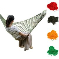 Wholesale Portable High Quality Army Nylon Soft Hanging Mesh Net Sleeping garden Swing Bed Outdoor Camping Trave Relax Hammock bed Hot