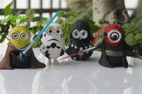 baby doll cosplay - 4pcs cosplay star wars movie actions toys version despicable minions cartoon action figures baby toys gift dolls
