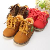 Wholesale 2015 New Children s Boots Warm Botas For Boys Girls Kids Plush Hand Stitching Cotton Winter Boots Size