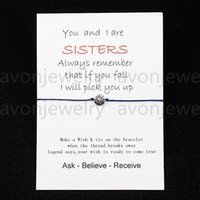 best sister - 2016 new Sisters love Card with Hearts Charm bracelet wish best friend colors to choose customizable