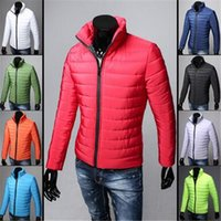 Wholesale Big sales Winter slim Jackets High Seoul Style Fashion Men zipper stand collar Outerwear coats Men s Clothing