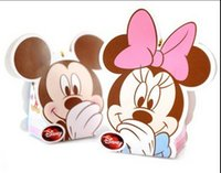 Wholesale 100pcs Mickey Mouse Candy Boxes Happy Wedding Event Party Supplies Wedding Favor Holders Gift Box