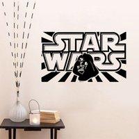 bathroom logos - Star Wars d Creative Wall Stickers Star Wars LOGO Bedroom Living Room TV Sofa DIY Home Decor Wallpaper Kids room wallpaper LA137
